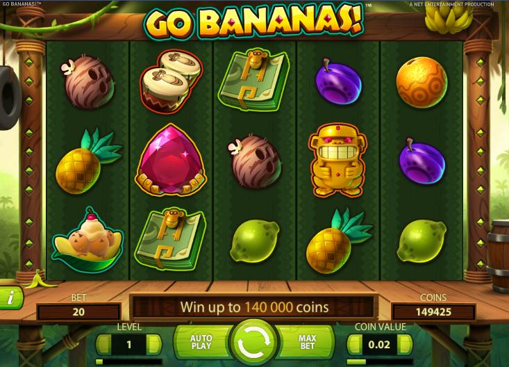 go bananas netent freespins